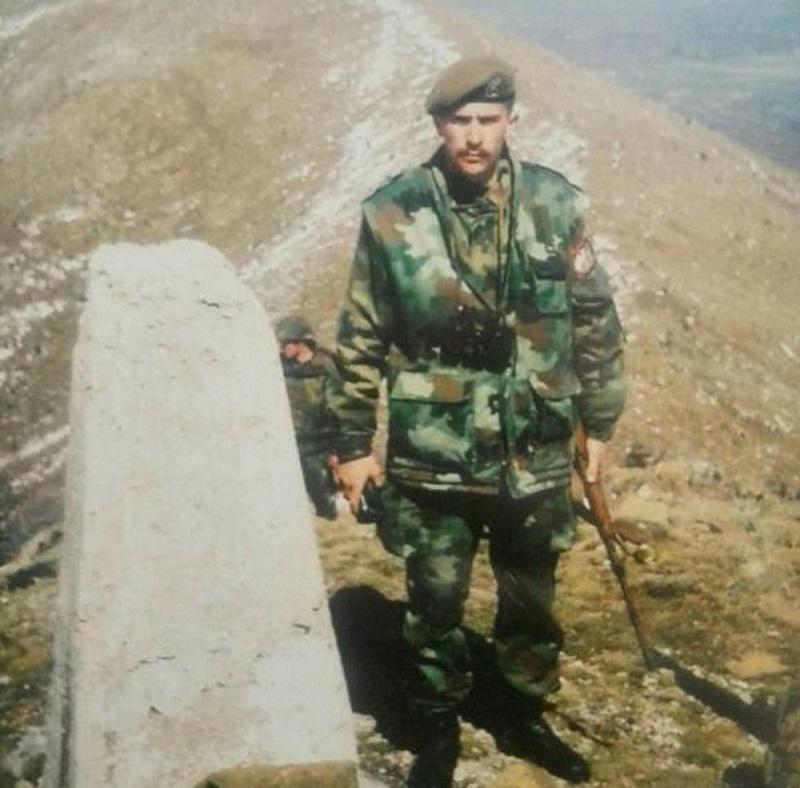 Пеђа Леовац код граничног камена Ц-4