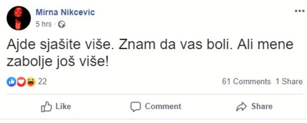 Фото: Printscreen Facebook/Mirna Nikčević